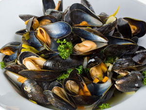 Mussels with Chardonnay Wine Vinegar