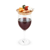 Wine Glass Topper:  Bamboo Appetizer Plates