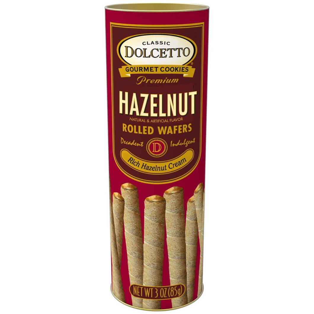 Wafer Rolls Hazelnut Tin