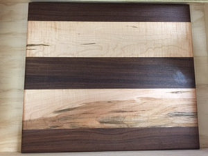 Walnut & Tiger Maple Cutting Board