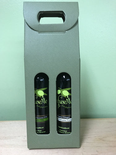 2 Pack- Japanese Toasted Sesame Oil &  Honey Ginger White Balsamic