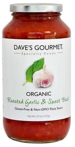 Pasta Sauce:  Organic Roasted Garlic & Sweet Basil
