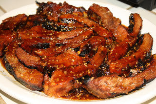 Honey Ginger Balsamic Glazed BBQ Ribs