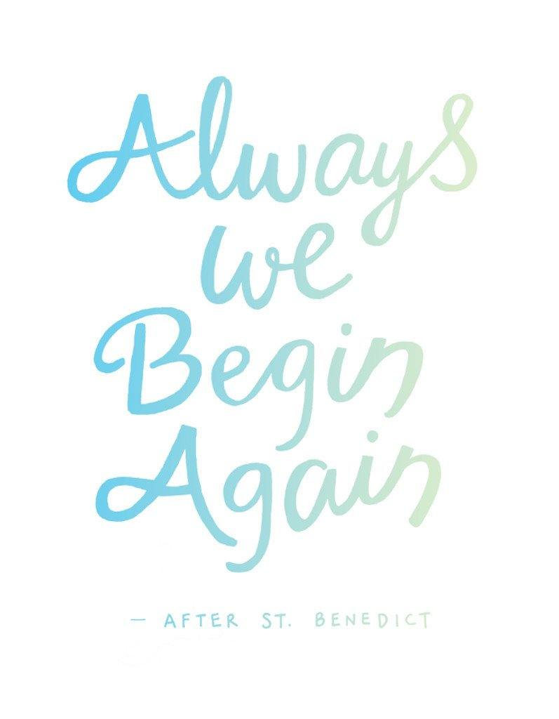 always we begin again letterpress print ruminate magazine