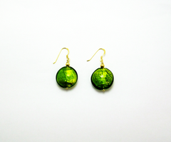 'Earth' Earrings with Gilded Beads
