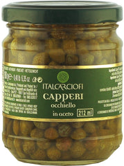 Capers Occhiello in wine vinegar 212 ml / 180g