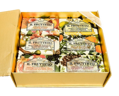 Nesti Dante Il Frutteto Set of Soaps Gold Box - (6 x 250g)