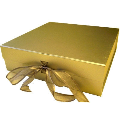 Gold Gift Box with Organza Bow