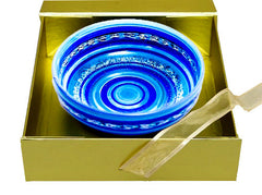 Hand-Painted Bowl 'Blue Mosaic'