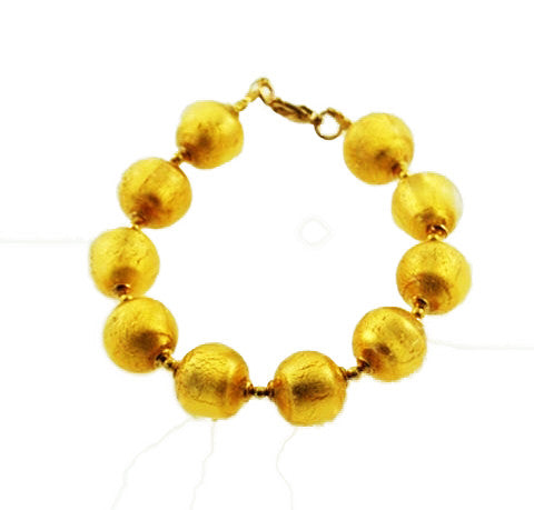 'Rialto' Bracelet with Gold Round Beads