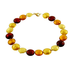 'Fire' Necklace with Gilded Beads