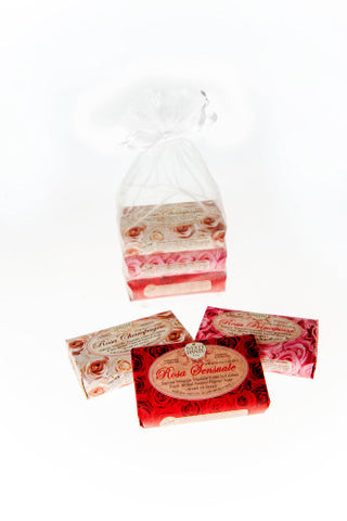 Nesti Dante 'La Rose' Trio of Soaps Gift Bag (3x150g)