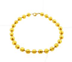 'Rialto' Necklace with Gold Round Beads
