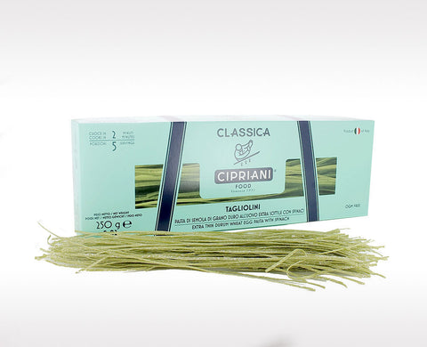 Cipriani Green Tagliolini Egg Pasta with Spinach (250g /8.81 oz)