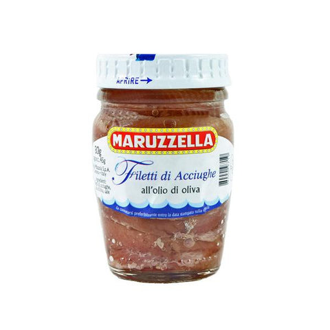 Maruzzella Anchovy Fillets in Olive Oil 80g jar