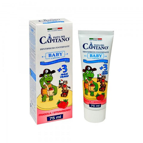 Pasta del Capitano Baby Toothpaste Strawberry Flavour (75ml)