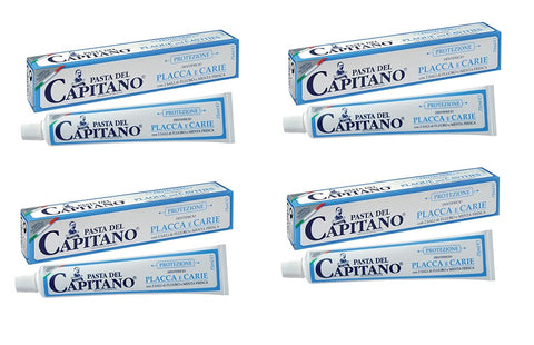 Pasta del Capitano Prevention Plaque & Cavities Toothpaste (4 x 100ml)