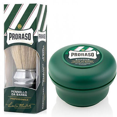 Proraso Professional Shaving Brush & 150ml Shaving Cream Bowl