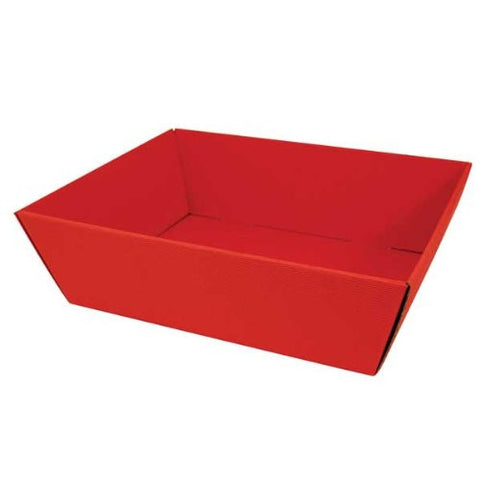 Red Kraft Fluted Tray