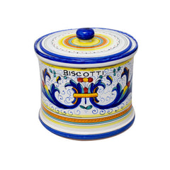 Ricco Deruta Blue Cookie Jar