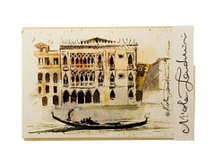 Tenderini Venice 'View of Grand Canal with Gondola''
