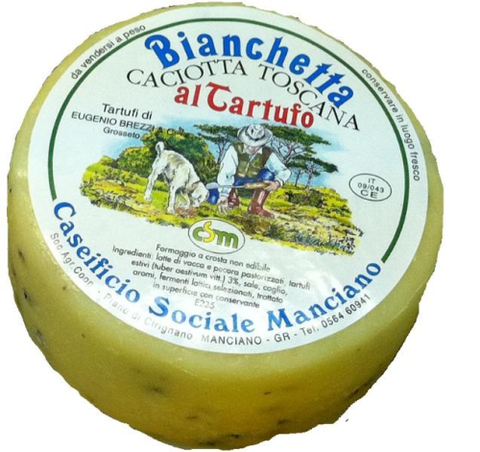 Tuscan Bianchetta - Mixed Caciotta Cheese with Truffle 350g