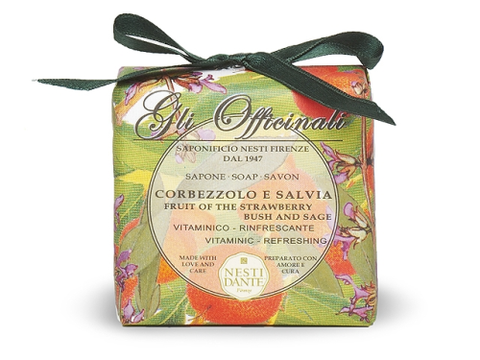 Nesti Dante 'Gli Officinali' Strawberry Bush & Sage Soap 200g
