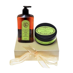 Bath Foam & Body Scrub Mint Lime and Bergamot Gift Box