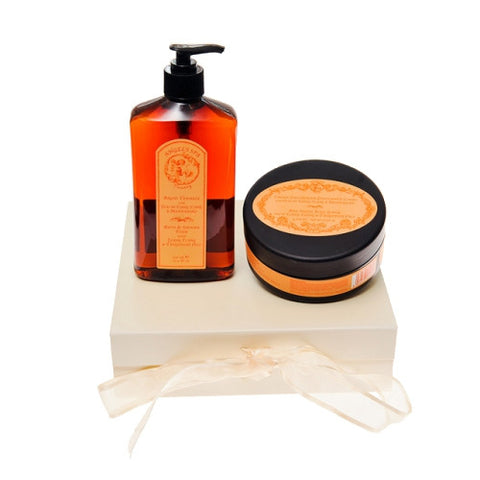 Bath Foam & Body Scrub Ylang-Ylang and Tangerine Gift Box