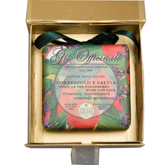 Nesti Dante 'Gli Officinali' Strawberry Bush & Sage Soap 200g (Gold Box)