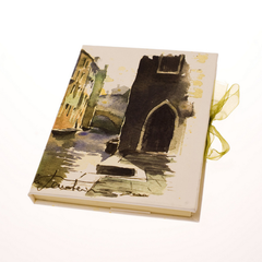 Tenderini 'Views of Venice: Castello, Rio Due Torri' Notebook (Large)