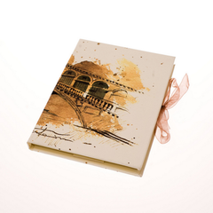Tenderini 'Views of Venice: Rialto Bridge' Notebook (Large)