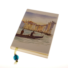Views of Venice: Traghetto in Canal Grande' Notebook (Medium)