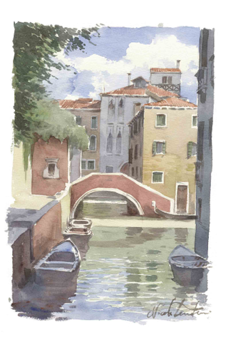 Tenderini 'Views of Venice: Moro Bridge' Poster