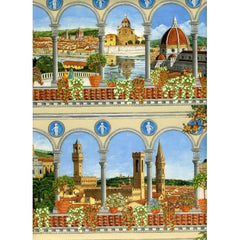Florence Monuments wrapping paper size cm. 70 x 100