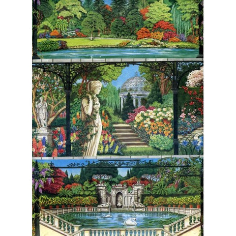 Italian Gardens wrapping paper size cm. 70 x 100