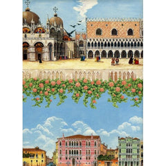 Venice Monuments wrapping paper size cm. 70 x 100