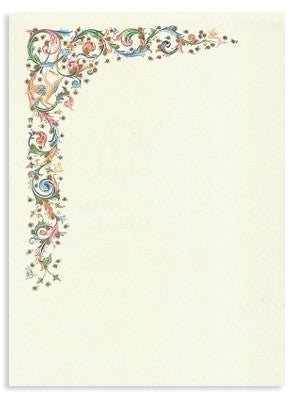 'Florentine Decoration' Stationery 10 sheets & 10 envelopes