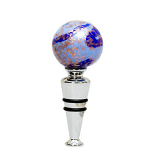 Murano Glass Wine Stopper 'Blue Lagoon'