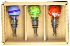 Murano Glass Wine Stoppers (Set of Three)