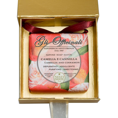 Nesti Dante 'Gli Officinali' Camellia & Cinnamon Soap 200g (Gold Box)