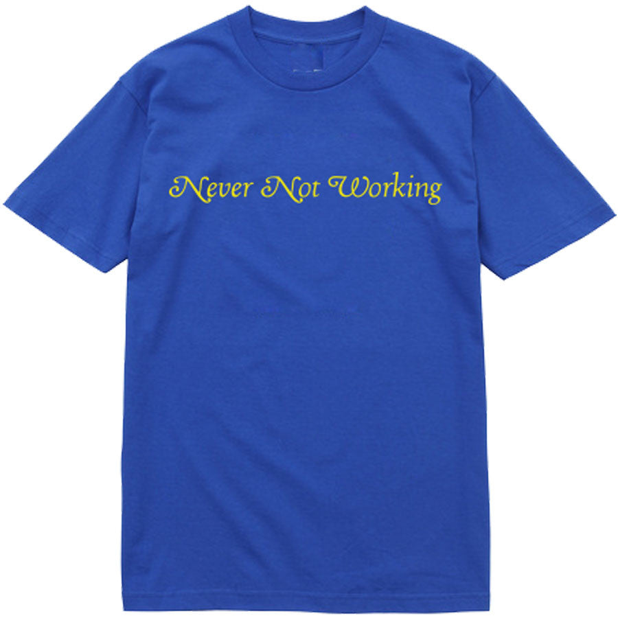 NEVER NOT T-SHIRT ROYAL