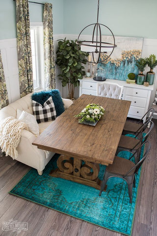 eclectic dining room decor