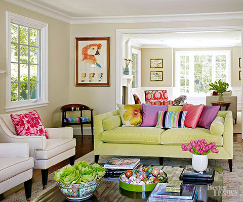 eclectic family room decor
