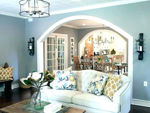 ambient lighting design in family room