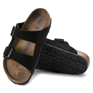 Arizona Soft Footbed Suede Leather Black