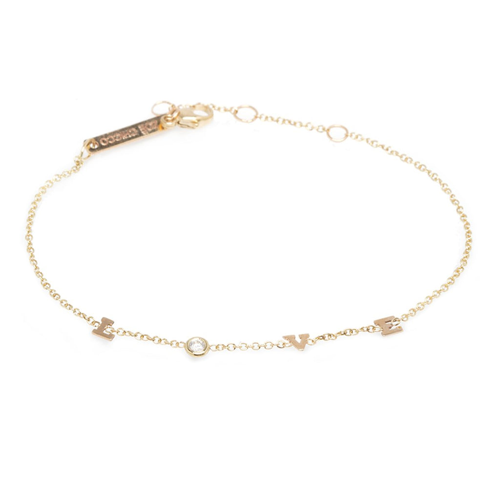 Itty Bitty Love Bracelet Yellow Gold