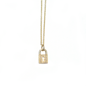 Large Lock Necklace
