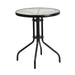 CAPRI cafe table with teak folding chair
