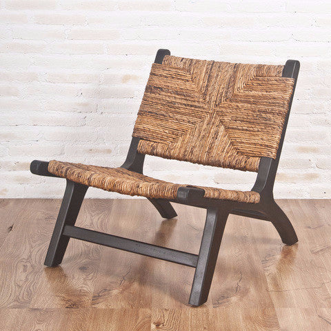 banana fibre teak chair